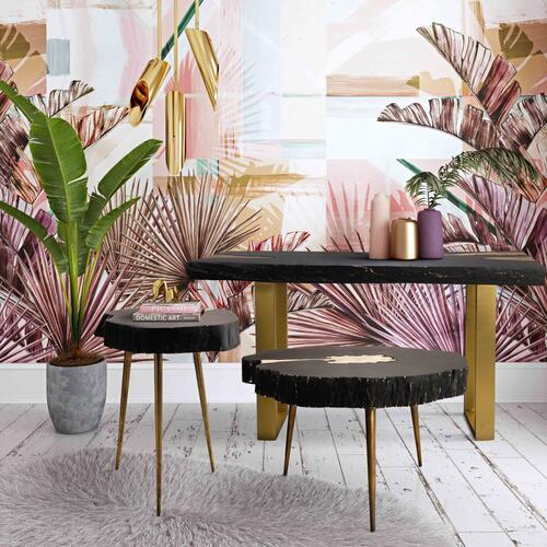 Tov Furniture - Timber Black and Brass Coffee Table