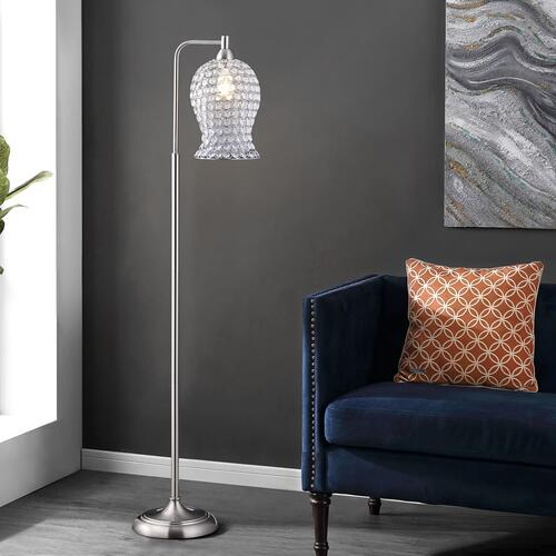 Izzy Iron Floor Lamp - Nickel