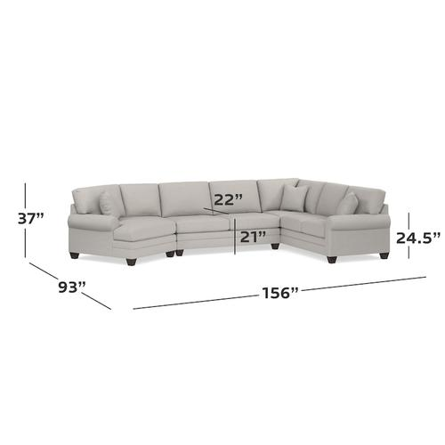 CU.2 Left Cuddler Sectional, Arm Style Track