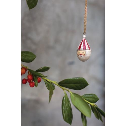 "1""x 2"" Candystripe Santa Collection (Ornament Option)"