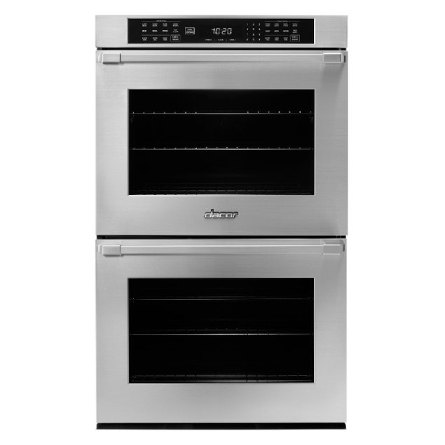 """Dacor 30"""" Double Wall Oven, Silver Stainless Steel with Pro Style Handle"""