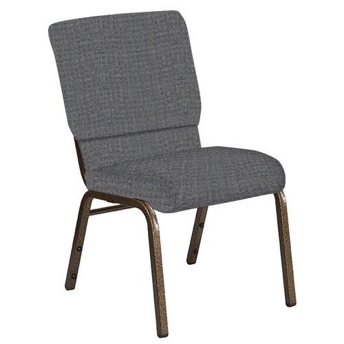Flash Furniture - 18.5''W Church Chair in Interweave Earth Fabric - Gold Vein Frame