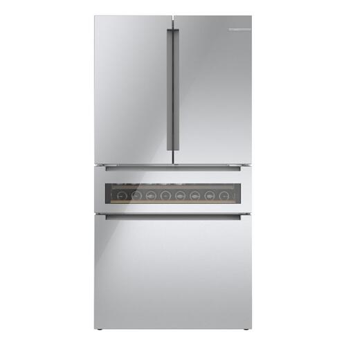 800 Series French Door Bottom Mount 36'' Easy Clean Stainless Steel B36CL81ENG