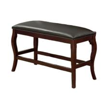 8718 CHERRY Cushion Counter Height Bench