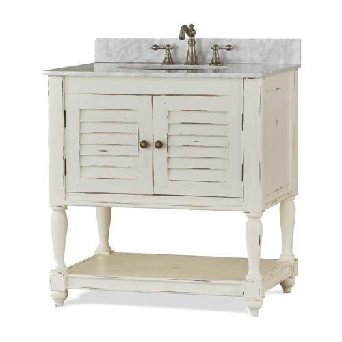 Cottage Guest Vanity w/ Sink & Marble Top