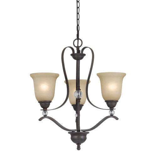 Cal Lighting & Accessories - 60W X 3 Riverton 3 Light Chandelier
