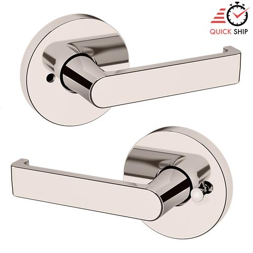 Baldwin - Polished Nickel with Lifetime Finish 5105 Estate Lever with 5046 Rose
