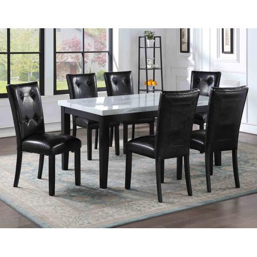 Gallery - Sterling 5 Piece Faux-Marble Top Dining(Table & 4 Side Chairs)