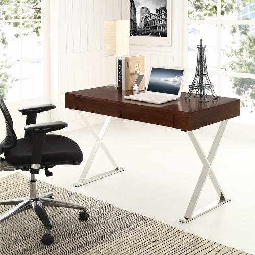 Sector Office Desk in Walnut