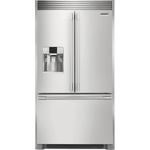 !!! SAVE OVER $600 !!! - Frigidaire Professional 21.6 Cu. Ft. French Door Counter-Depth Refrigerator - SMUDGE PROOF STAINLESS STEEL - FULL WARRANTY - SLIGHTY USED - CUSTOMER UPGRADED