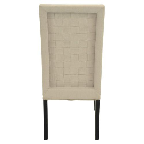 Cole Fabric Chair Espresso Legs, Sand