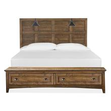 See Details - Complete Cal.King Lamp Panel Storage Bed