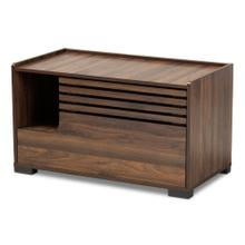 See Details - Baxton Studio Claire Modern and Contemporary Walnut Brown Finished Cat Litter Box Cover House
