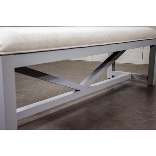 Osborne - Upholstered Dining Bench - Gray Skies Finish