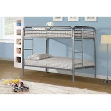 See Details - BUNK BED - TWIN / TWIN SIZE / SILVER METAL