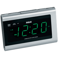 Dual wake clock radio with SmartSnooze and 1.4 inch display