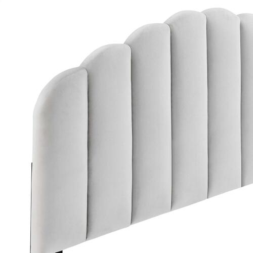 Modway - Veronique Full/Queen Performance Velvet Headboard in Light Gray
