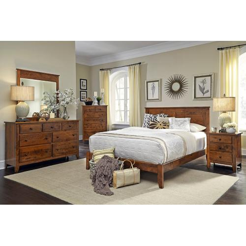 Gallery - Shenandoah Deluxe Headboard with Wood Frame - QuickShip, Queen