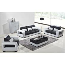 Divani Casa T322B Modern White & Black Eco-Leather Sofa Set