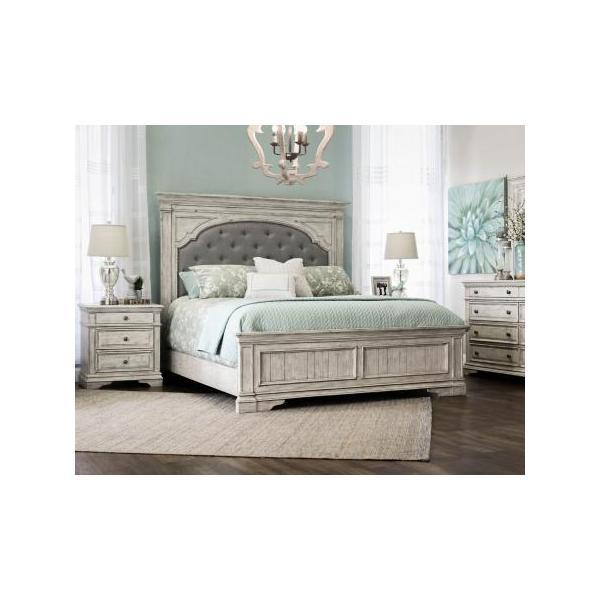 Highland Park -White 4-Piece Queen Set (Q Bed/NS/Dresser/Mir)