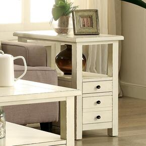 Sullivan - Chairside Table - Country White Finish