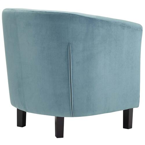 Prospect Performance Velvet Armchair in Sea Blue