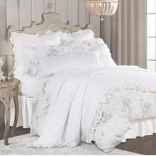 3 PC Rosaline Washed Linen Comforter Set - Super Queen