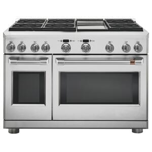 "Cafe Appliances  48"" Dual-Fuel Professional Range with 6 Burners and Griddle (Natural Gas)"
