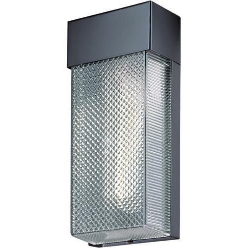 Wall Lamp, Black/clear Shade, Type Fluor. Bulb Pl/13w(2700k)