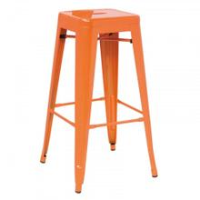Detroit - Modern Orange Metal Barstool (Set of 4)