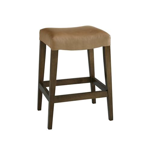 Forsyth Leather Counter Saddle Stool