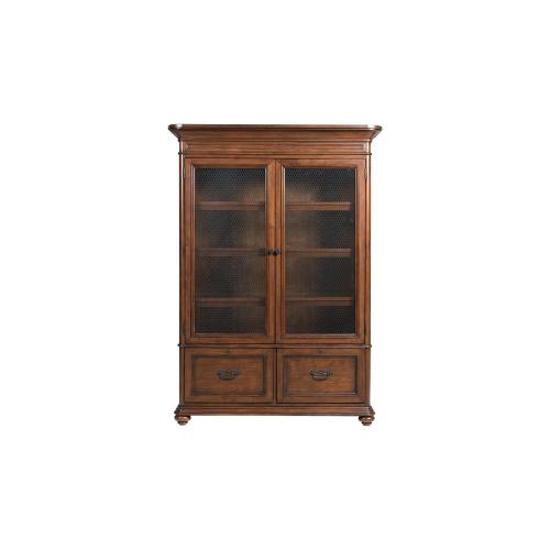 Clinton Hill - Door Bookcase - Classic Cherry Finish