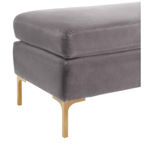 Tov Furniture - Delilah Grey Velvet Bench