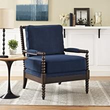 Revel Velvet Armchair in Navy