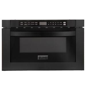 "Zline KitchenZLINE 24"" 1.2 cu. ft. Microwave Drawer in Black Stainless Steel (MWD-1-BS)"