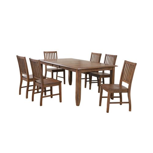Extendable Table Dining Set - Amish (7 Pieces)