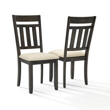 HAYDEN 2PC SLAT BACK DINING CHAIR SET