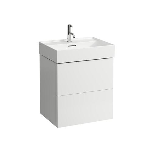 Ochre Brown Vanity Unit with two drawers for washbasin 810333 (incl. organiser)