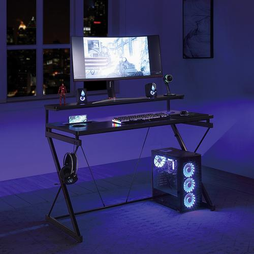 Rgb LED Lights Emulator Battlestation Gaming Desk