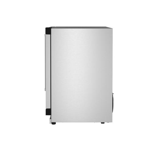 """KitchenAid Canada - 24"""" Undercounter Refrigerator with Glass Door and Shelves with Metallic Accents - Stainless Steel"""