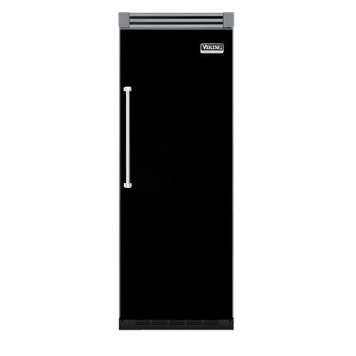 """Viking - Black 30"""" Quiet Cool™ All Refrigerator - VIRB Tru-Flush™ (Right Hinge Door)"""