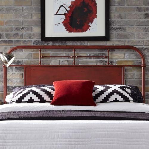 King Metal Headboard - Red