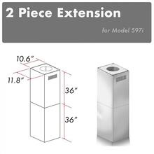 """See Details - ZLINE 2-36"""" Chimney Extensions for 10 ft. to 12 ft. Ceilings (2PCEXT-597i)"""