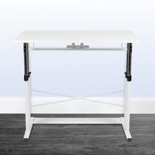 """See Details - Height Adjustable (27.25-35.75""""H) Sit to Stand Home Office Desk - White"""