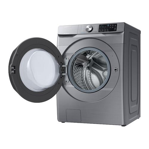 Samsung - 4.5 cu. ft. Front Load Washer with Steam in Platinum