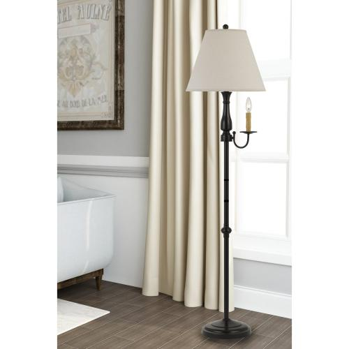 100W Monroe Metal Floor Lamp With 40W Candle Holder Light