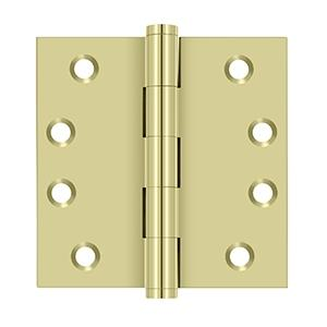 """Deltana - 4"""" x 4"""" Square Hinges - Unlacquered Brass"""