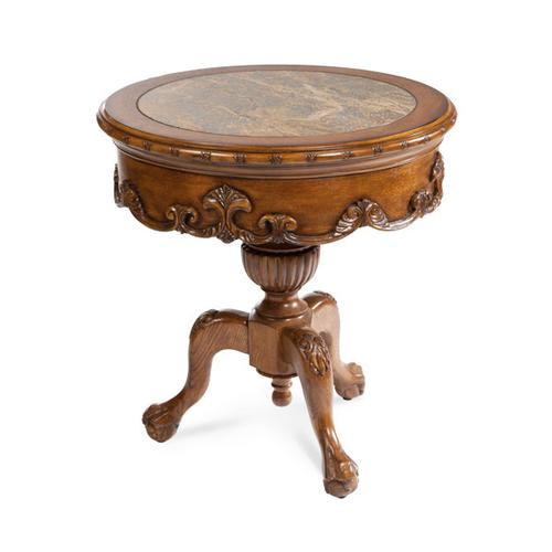 Grand Traditions Chair Side Table Heritage Oak