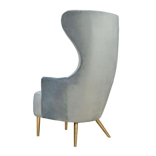 Julia Grey Wingback Chair by Inspire Me! Home Decor