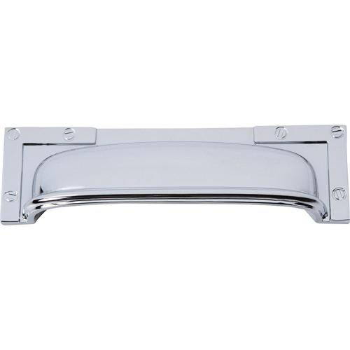 Campaign L-Bracket Cup Pull 3 3/4 Inch (c-c) - Polished Chrome